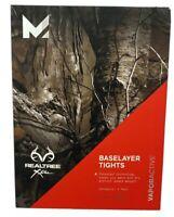 Mission Active Men's Realtree Xtra Baselayer Tights Vapor Active Size Small New