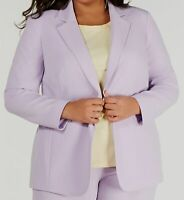 $195 Bar III Women Purple Plus Size Tailored One-Button Suit Jacket 16W