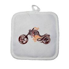 Manique gant de cuisine moto arabesque