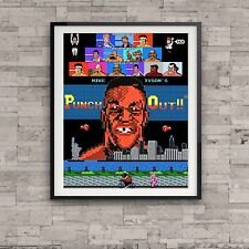 Mike Tyson Punch Out Nintendo Retro Art Poster Video Game Vintage 8 bit Gift 80s