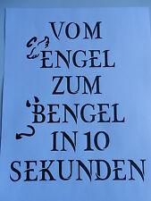 Schablone mit Spruch Vom Engel zum .... auf A4