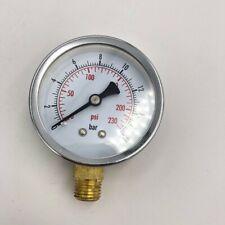 """60mm 0-230psi 0-16bar 1/4""""BSP Male Round Case Air Compressor Pressure Gauge"""