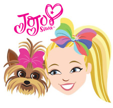 "JoJo Siwa and Bow Bow Iron On Transfer 5"" x 5"" for LIGHT Colored Fabric"