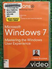 Microsoft Windows 7 DVD Learn Live Lessons Video J Peter Bruzzese Training Guide
