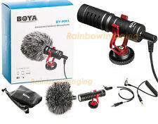 "BOYA BY MM1 Cardiod Shotgun Microphone MIC Video for Smartphone DSLR ""US Seller"""
