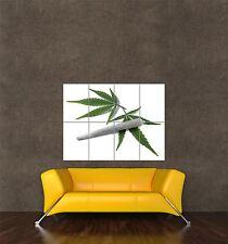 Poster Foto impresión de forma marihuana tema Hoja Césped Hierba conjunta Spliff seb529