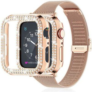 Stainless Steel Bracelet Band With Case for Apple Watch SE 654321 38/40/42/44mm