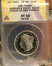 CARSON CITY MINT PF68 MORGAN HALF DOLLAR PROOF DESIGN STRUCK ON PRESS #1 CC MINT