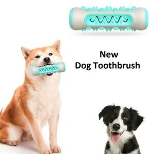 New Dog Toothbrush Toy Teeth Brushing Stick Pet Brush Mouth Chewing Clean TPR