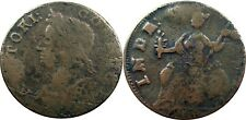1786 Connecticut Copper, Miller 5.2-O.2, VERY RARE (R-5+) variety, Very Fine!