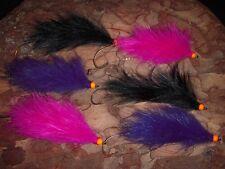 6 Hot Head MOAL Articulated Rabbit Leech Steelhead Salmon Fly Fishing Flies #1