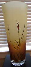 HUGE Womar Cat Tail Glass Vase Contemporary Stunning piece.