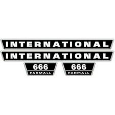 NEW 666 INTERNATIONAL TRACTOR HOOD DECAL KIT HIGH QUALITY VINYL