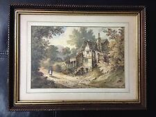 Antique English Watercolor Painting Unsigned