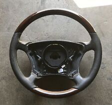 MERCEDES  W220 S-CLASS STEERING WHEEL WOOD GRAIN TRIM BLACK LEATHER 2204601203