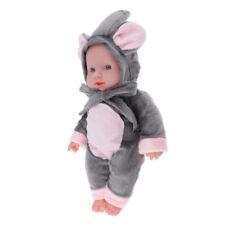 30cm Junge Weichkörper Babypuppe mit Elefant Kleidung Spielzeug