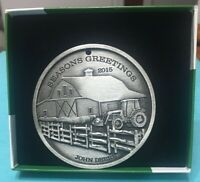 2015 John Deere Christmas Holiday Ornament by SpecCast - Pewter - NEW