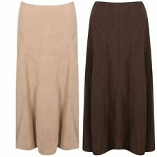 Polyester Patternless Casual Tall Size Skirts for Women