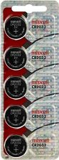 FIVE Maxell CR2032 Lithium Batteries. Hologram Package. (5 Pack) 3 Volt