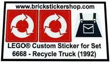 Precut Custom Replacement Stickers voor Lego Set 6668 - Recycle Truck (1992)