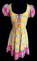 VERY RARE VINTAGE DESIGNER COTE D'AZUR 1960'S FRENCH COLORFUL SUNDRESS SIZE 6