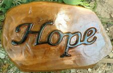 Hope Stone, Stepping Stone, Concrete Mold, plastic mold, cement, plaster