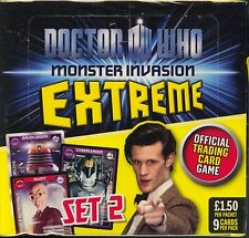 Doctor Who Monster Invasion Extreme TCG Booster pack Display MINT Dr Who