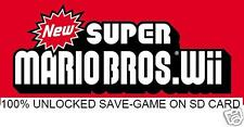GAME-SAVE on SD CARD for New Super Mario Bros. Wii, NSMB 100% cheat file