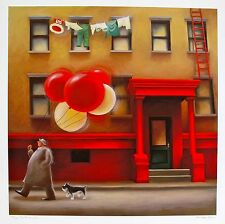 "BERIT KRUGER JOHNSEN ""THE DREAM SELLER"" Hand Signed Limited Edition Art Giclee"