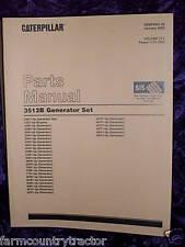 Caterpillar 3512B Generator Set Volumes 1, 2, & 3 Parts Manual