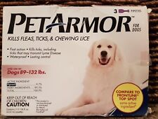 Petarmor for dogs   Kills Flea  Tick & Chewing Lice, 89-132 lbs, 3 Month Supply