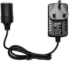 Tfufr Car Voltage Converter 240v 2a AC Mains to 12v DC Socket Power Inverters PO