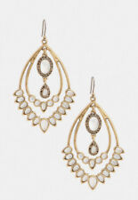 Lucky Brand JLRY7439 Glass Stone Statement Gold Plated Dangle Earrings