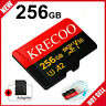 256GB Micro Memory Card 10 Fast 4K Class10 Flash TF Card with Adapter&Car&Camera