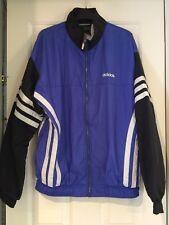 Mens Vintage retro Adidas Three Stripe trucksuit top/jacket size M