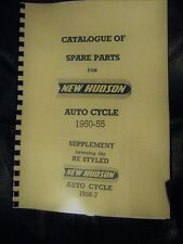 NEW HUDSON AUTO-CYCLE PARTS MANUAL 1950-57 INCL. SUPPLEMENT - NH01