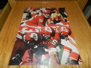 LEN DAWSON HAND SIGNED MAGAZINE PHOTO