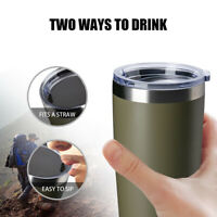 Stainless Steel Thermos Cup Vacuum Insulated Water Bottle Coffee Mug W/ Cover