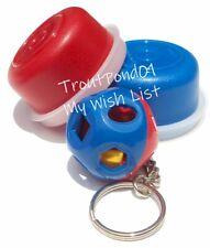 Tupperware Keychain Mini Shape O Ball Red and Blue Matching Smidgets Set 3 New