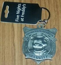 Five Nights at Freddy's Fazbear Security Badge Metal Keychain FNAF Freddys NWT