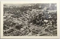 Old Vintage Real Photo Postcard RPPC View From The Air in Greenwood, Mississippi