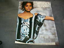 Whitney Houston Original Arista Poster for her self debut album+cassette.