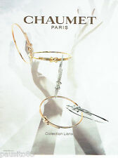 PUBLICITE ADVERTISING 1016  2015   collection Liens joaillier Chaumet