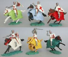 Timpo A Set Plastic Mounted 1st Issue Crusader Figures