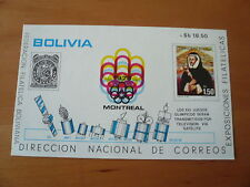 Bolivien  Olympia 1976 Montreal  Bl. 71   postfrisch