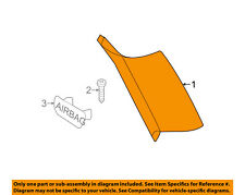 BMW OEM 11-17 X3 Interior-Lock Pillar Trim Right 51437245448