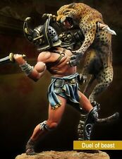 SCALA 75 Roman Gladiator DUEL of the Beast 75mm Kit in metallo non verniciato