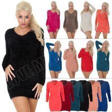 Grobe Damen-Pullover mit V-Ausschnitt und Acryl