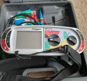 Megger MFT1711 multi function tester in box with leads see description