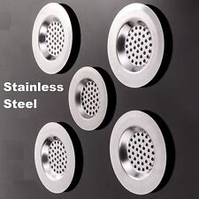 3pc Sink Bath Strainer Hair Trap Food Metal Ne Filter Basin Plug Hole Chrome Snk